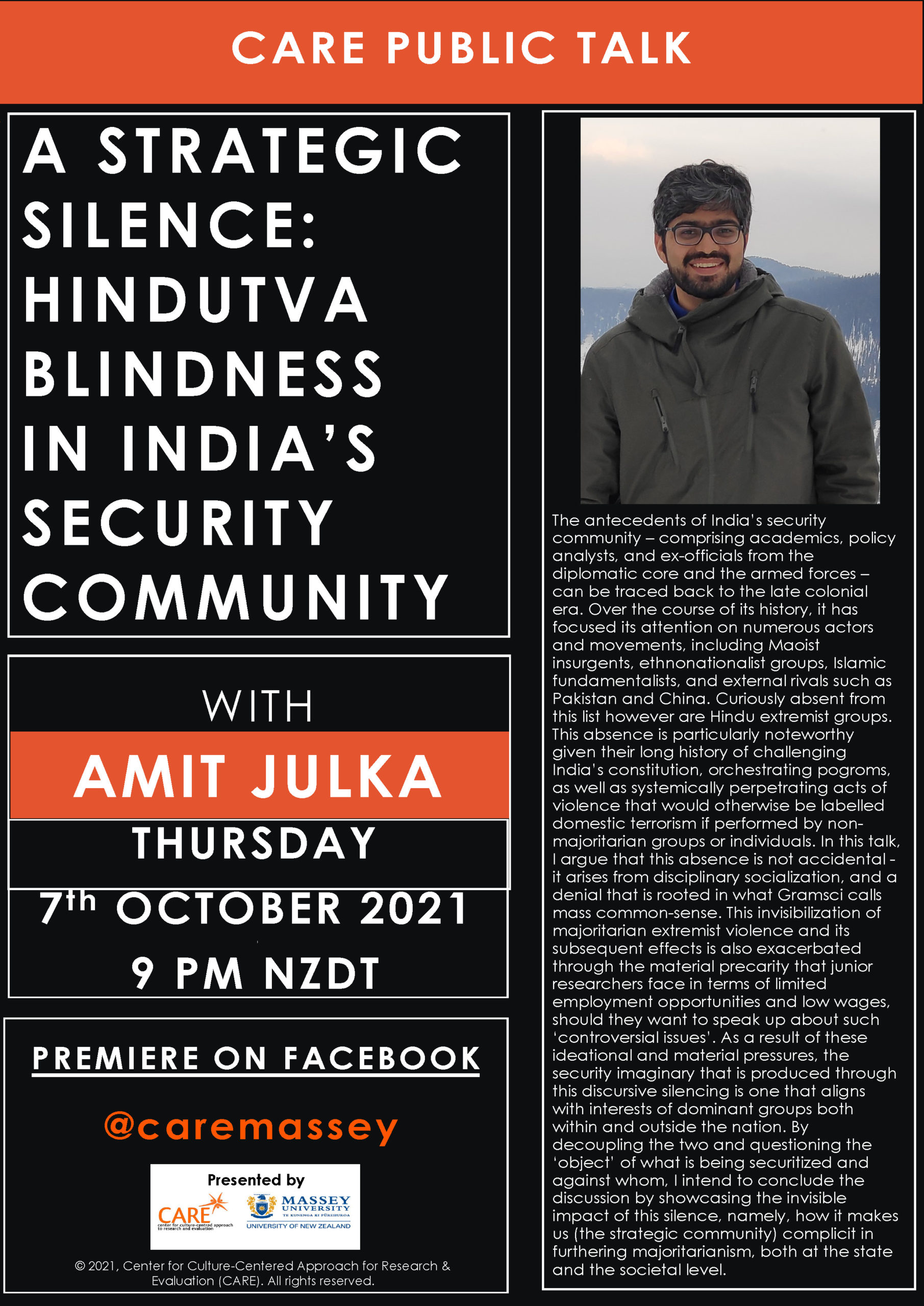 This image has an empty alt attribute; its file name is CARE_Talk_Amit_Julka-A-Strategic-Silence-Hindutva-Blindness-In-India's-Security-Community-7_Oct_2021-scaled.jpg